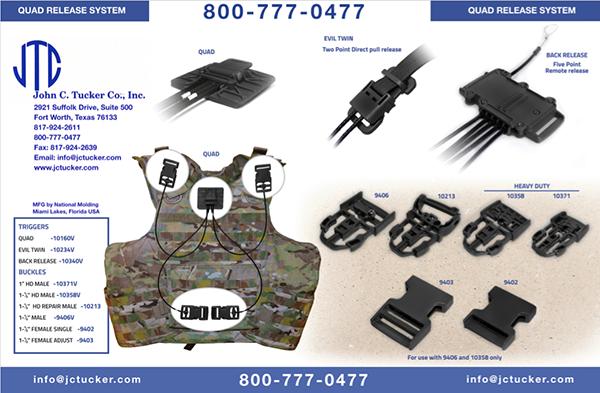 Quad Release System for Tactical Vests